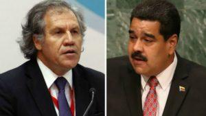 Luis Almagro y Nicolás Maduro tuvieron un duro intercambio esta semana